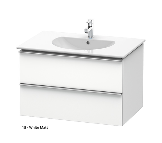 Additional image of Duravit Darling New 800mm 2 Drawers Terra Vanity Unit With Basin