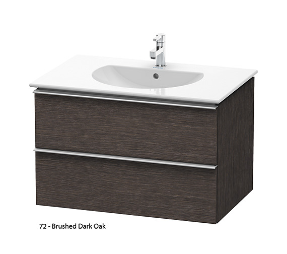 Alternate image of Duravit Darling New 800mm 2 Drawers Terra Vanity Unit With Basin