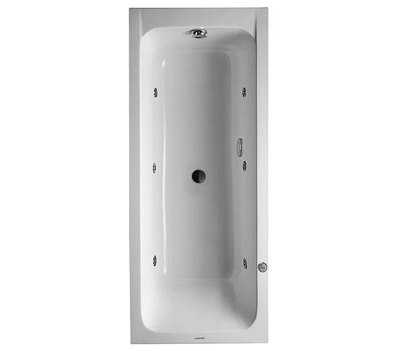 duravit d code built in 1700x700mm bath central outlet. Black Bedroom Furniture Sets. Home Design Ideas