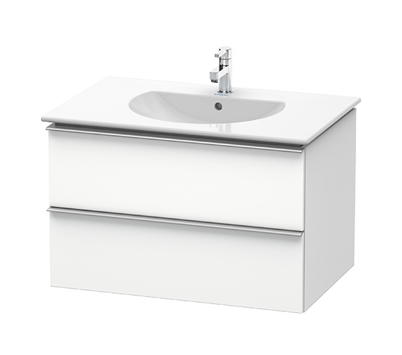 Duravit Darling New 800mm 2 Drawers White Matt Unit With Basin