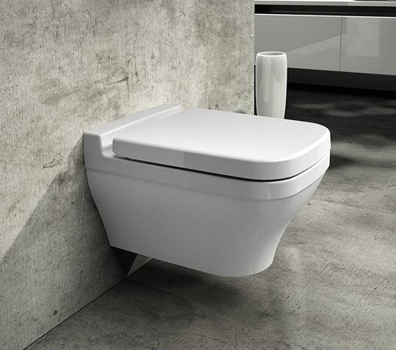 Saneux Indigo Wall Hung Rimless WC Pan With Soft Close Seat