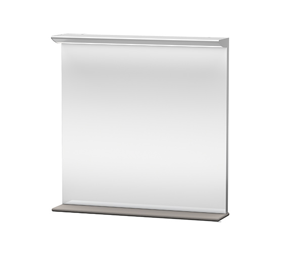 Duravit Darling New 800mm Mirror With Lightning And Wooden Shelf