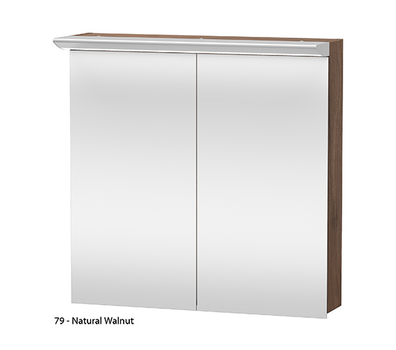 Additional image of Duravit Darling New 800mm 2 Door Mirror Cabinet
