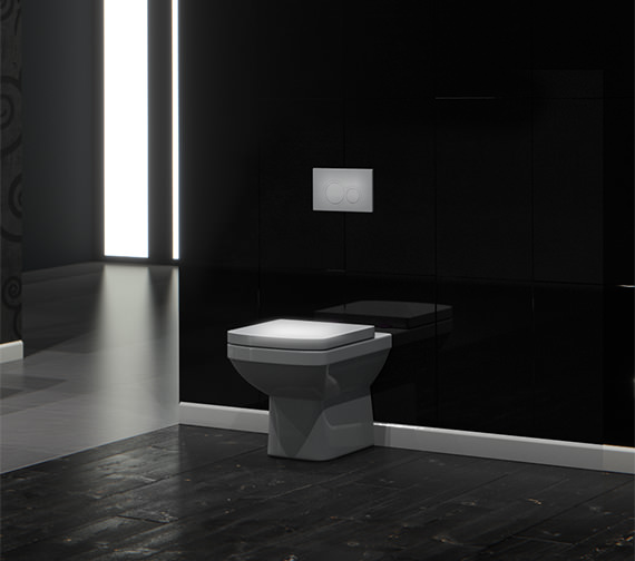 Saneux I-Line Back-To-Wall WC Pan With Seat And Cover