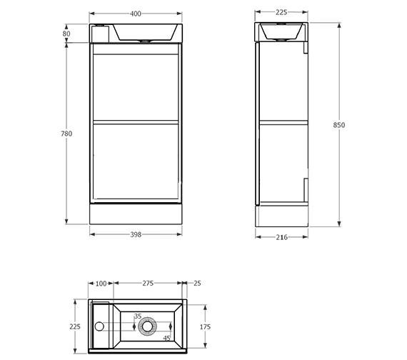 Technical drawing QS-V29712 / QU2201
