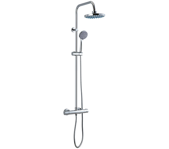 Saneux Cos Thermostatic Rigid Riser Set With Overhead And Handset