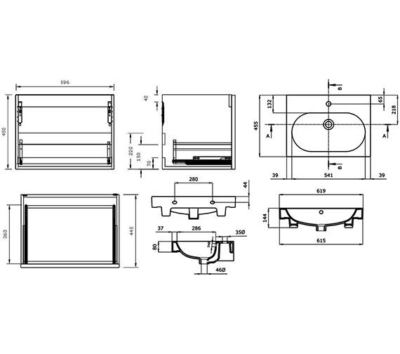 Technical drawing QS-V88224 / AU050W.GW