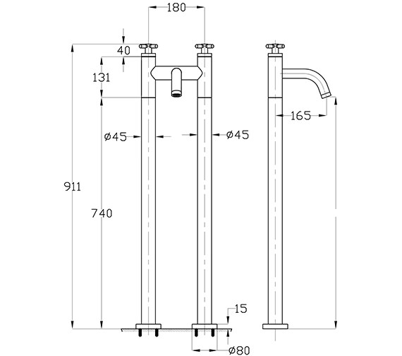 Technical drawing QS-V38232 / TO322DC