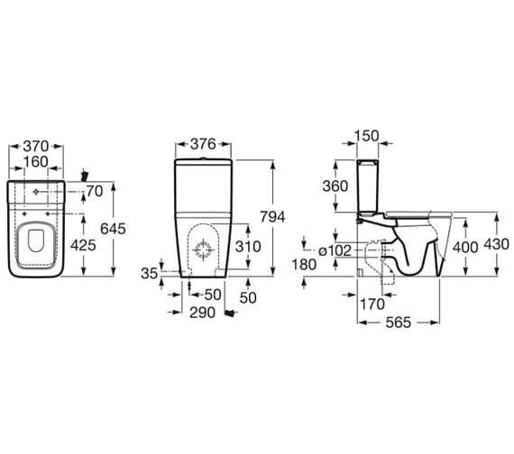 Technical drawing QS-V13898 / 342537000