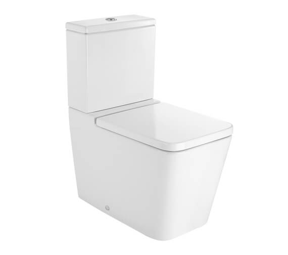 Roca Inspira Square Back-To-Wall Closed Couple WC Pan With Dual Outlet