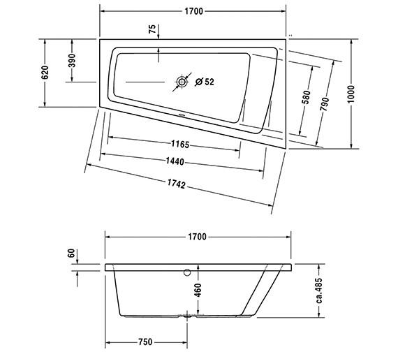 Technical drawing QS-V43695 / 700225000000000
