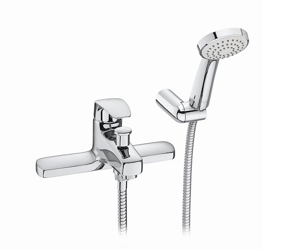 Roca Monodin-N Deck-Mounted Bath-Shower Mixer Tap With Hose And Handset