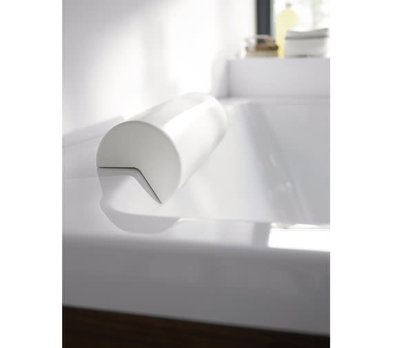 Additional image of Duravit Paiova 1700 x 1300mm Left Backrest Slope Bath With Panel And Frame