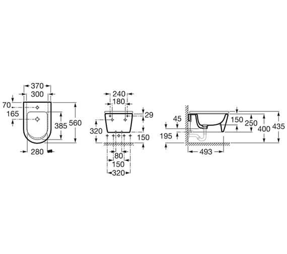 Technical drawing QS-V13896 / 357525000