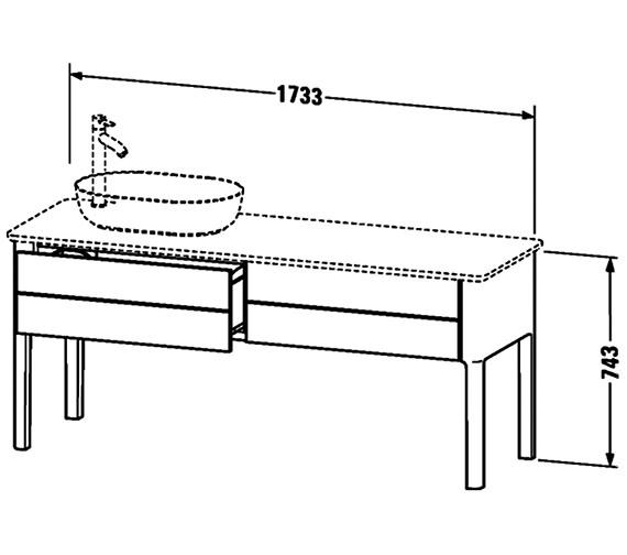 Technical drawing QS-V95967 / LU9563L3636