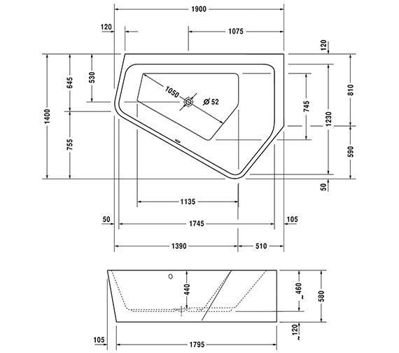 Technical drawing QS-V43721 / 700397000000000