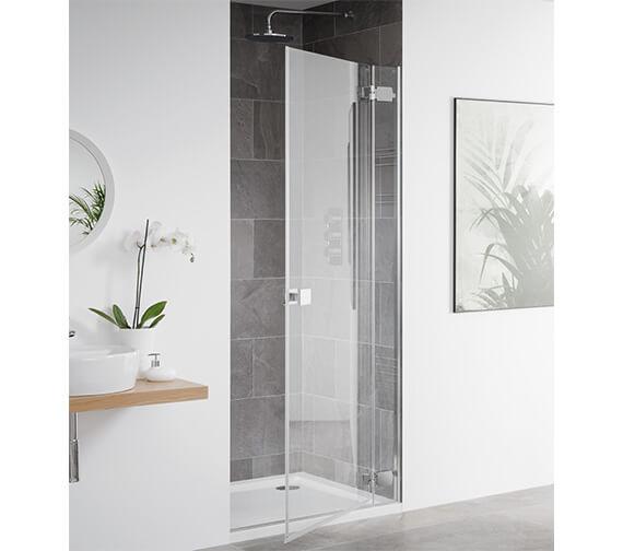 Lakes Island Barbados 900 x 2000mm Frameless Hinge Shower Door
