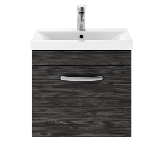 Additional image of Premier Athena 500mm Single Drawer Wall Hung Cabinet With Basin 1 Gloss White Finish
