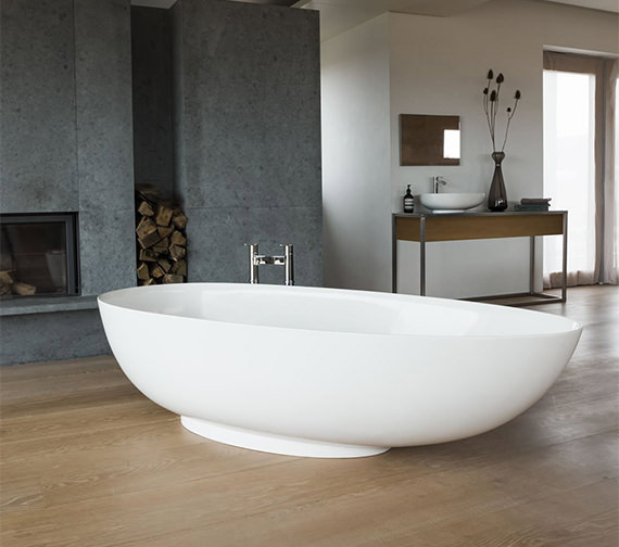 Clearwater Teardrop Grande Clearstone Freestanding Bath 1910 x 820mm