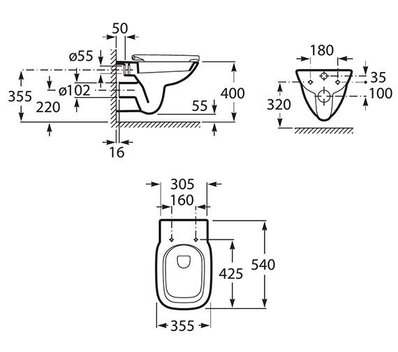 Technical drawing QS-V9192 / 34699L000
