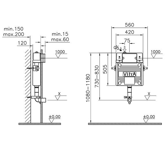 Technical drawing QS-V90573 / 742-1735-01