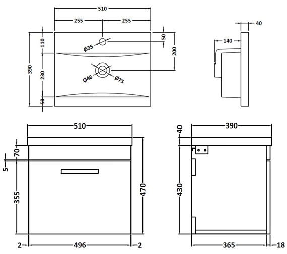 Technical drawing QS-V42348 / ATH013A