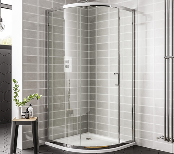 Essential Spring 1000 x 1900mm 1 Door Quadrant Shower Enclosure
