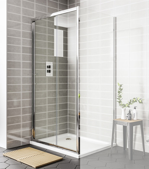 Essential Spring Sliding Shower Door 1000 x 1900mm