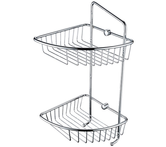 Bristan Two Tier Wall Fixed Wire Basket