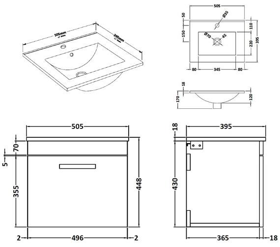 Technical drawing QS-V42349 / ATH013B