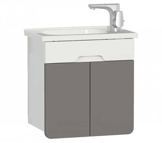 Additional image of VitrA D Light 500 x 305mm Nautral Oak Vanity Unit With Washbasin
