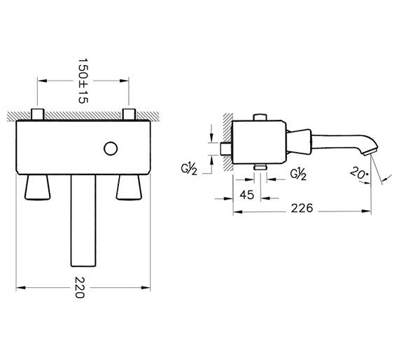 Technical drawing QS-V90488 / A42343VUK