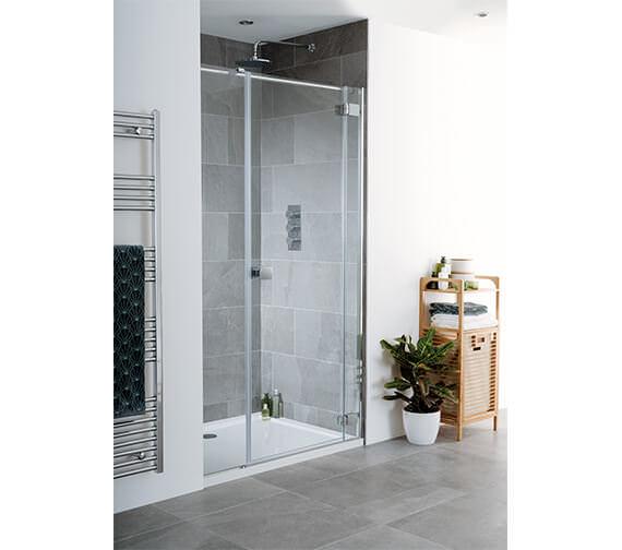 Lakes Island Cayman 1600 x 2000mm Hinge Shower Door And Inline Panel