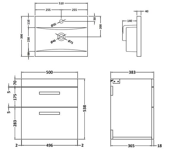 Technical drawing QS-V42351 / ATH020A