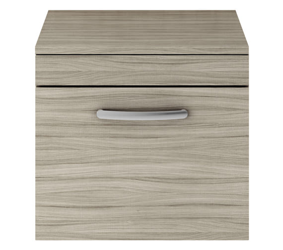 Additional image of Premier Athena 500mm Single Drawer Wall Hung Cabinet With Worktop Gloss White