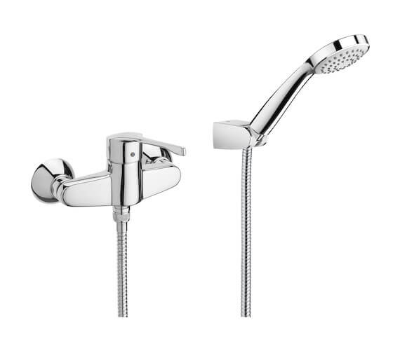 Roca Victoria Pro Wall-Mounted Shower Mixer With Handset And Hose