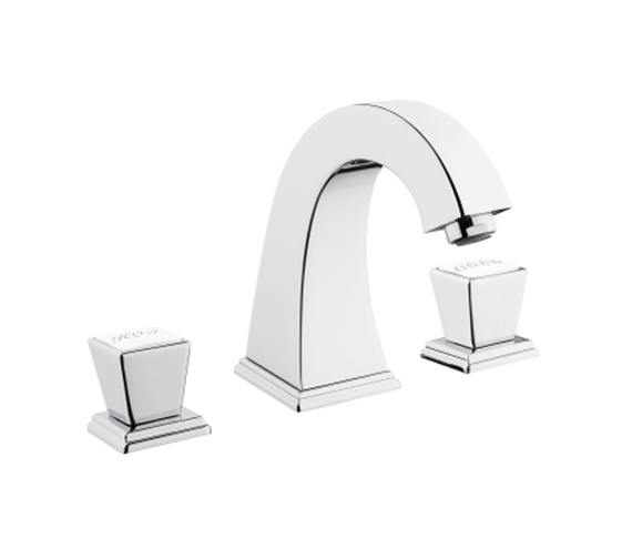 VitrA Elegance 3 Hole Deck Mounted Basin Mixer Tap Chrome - Gold And Copper Finish Also Available
