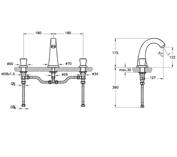Technical drawing QS-V90487 / A42339VUK