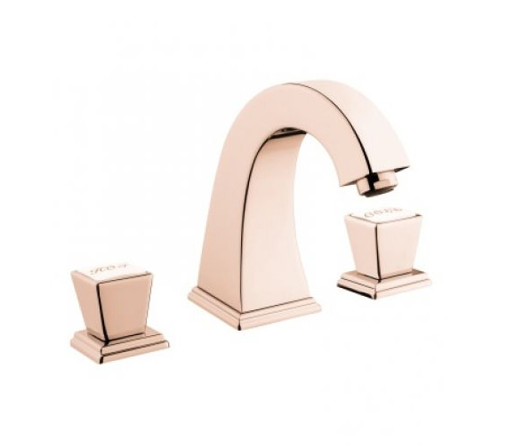 Additional image of VitrA Elegance 3 Hole Deck Mounted Basin Mixer Tap Chrome - Gold And Copper Finish Also Available