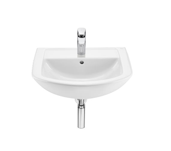 Roca Aire Round 550 x 450mm Wall-Hung Basin With 1 Tap Hole