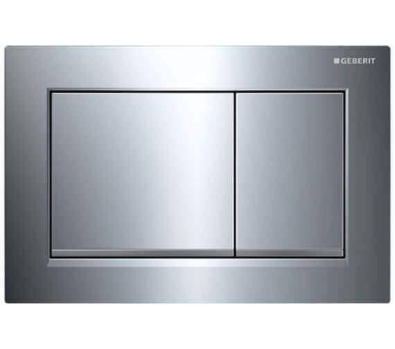 Alternate image of Geberit Omega30 212 x 142mm White Gloss Chrome Dual Flush Plate