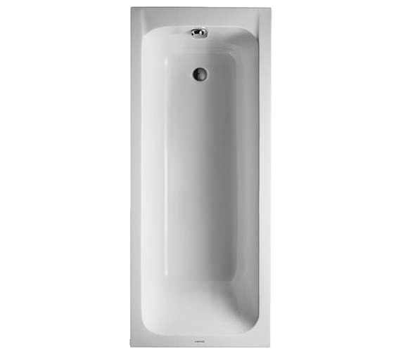Duravit D-Code 1700 x 700mm Built-In Bath With Support Feet - Outlet In Foot Area