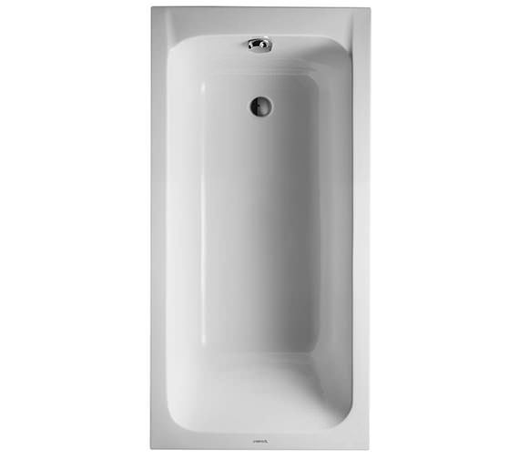 Duravit D-Code 1500 x 750mm Built-In Bathtub Without Feet - Outlet In Foot Area