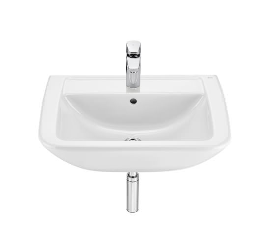 Roca Aire Square 600 x 480mm Wall-Hung Basin With 1 Tap Hole