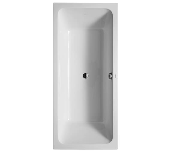 Duravit D-Code 1800 x 800mm Built-In Bathtub With Support Feet - Central Outlet