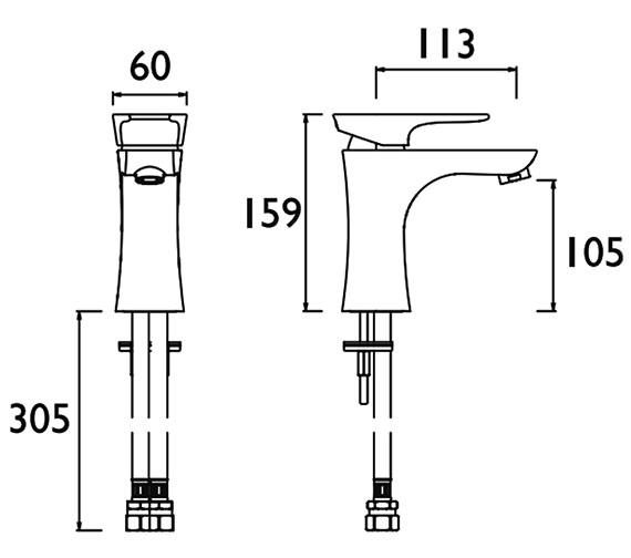 Technical drawing QS-V88327 / MHOU 1HBF CR