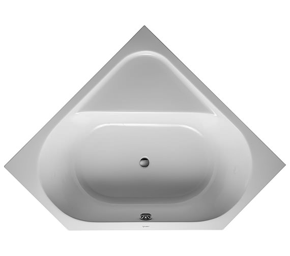Duravit D-Code 1400 x 1400mm Built-In Corner Bathtub With Support Feet