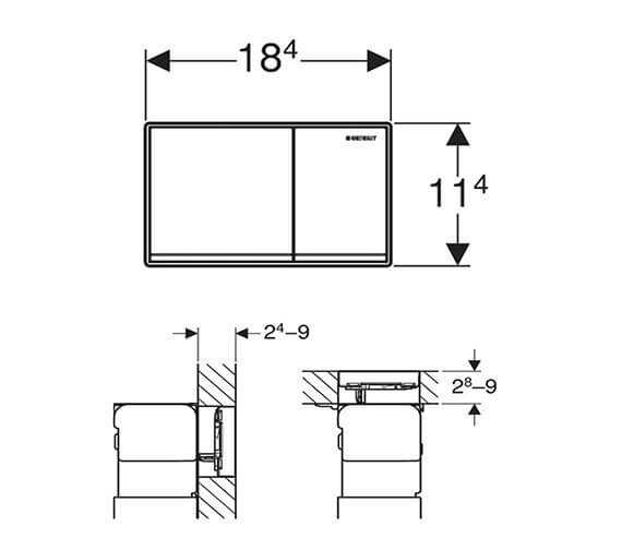 Technical drawing QS-V93530 / 115.081.SI.1