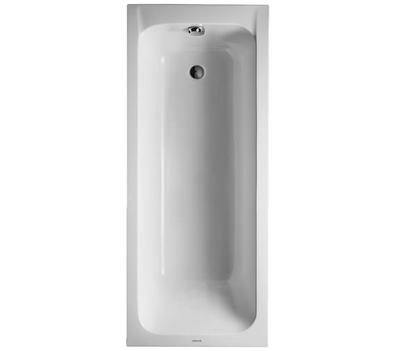Duravit D-Code 1700 x 700mm Built-In Bathtub Without Feet - Outlet In Foot Area