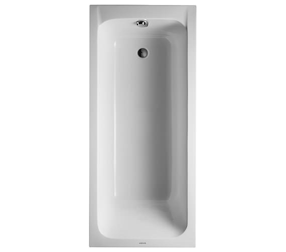 Duravit D-Code 1700 x 750mm Built-In Bathtub Without Feet - Outlet In Foot Area